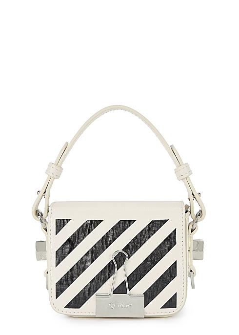 a32d75b6c Off-White Diag baby white leather cross-body bag - Harvey Nichols