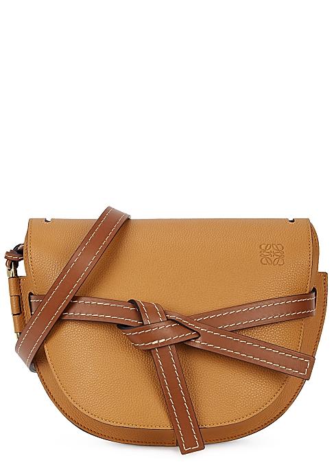 9b1fece79313 Loewe Gate small brown leather saddle bag - Harvey Nichols