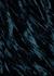 Yod dark teal velvet maxi skirt - Collina Strada