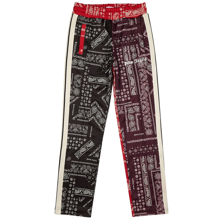 Palm Angels Pants BANDANA-PRINT JERSEY SWEATPANTS