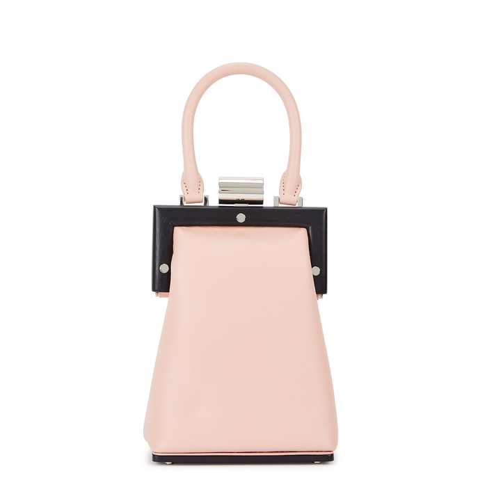 Perrin Paris La Minaudiere pink leather cross-body bag