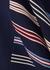Navy panelled jersey skirt - MONSE