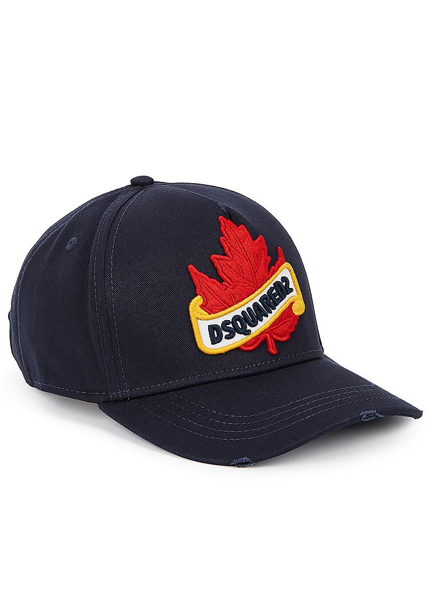 223187d336e21c Navy appliquéd twill cap. New Season. Dsquared2
