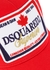 Red appliquéd twill cap - Dsquared2
