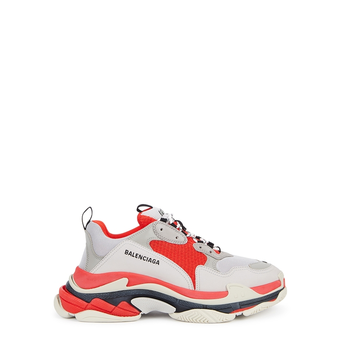 Balenciaga Triple S Mesh And Leather Sneakers