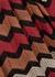 Terracotta zigzag-knit jumper - M Missoni