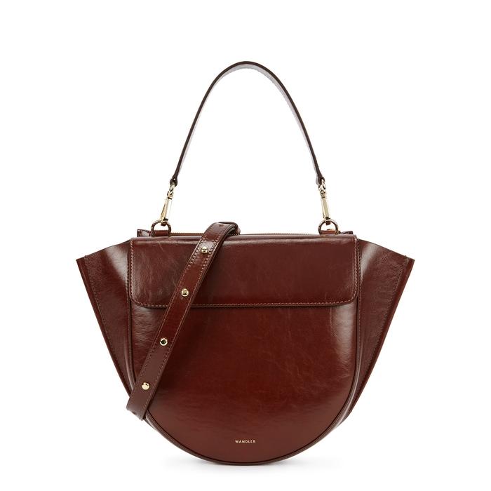 3d2846a82 Wandler Hortensia Medium Grained Leather Top Handle Bag In Burgundy