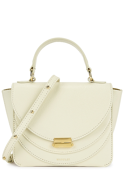 2611c00f2 Wandler Luna ivory leather cross-body bag - Harvey Nichols