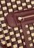 Yara leather and straw top handle bag - Wandler