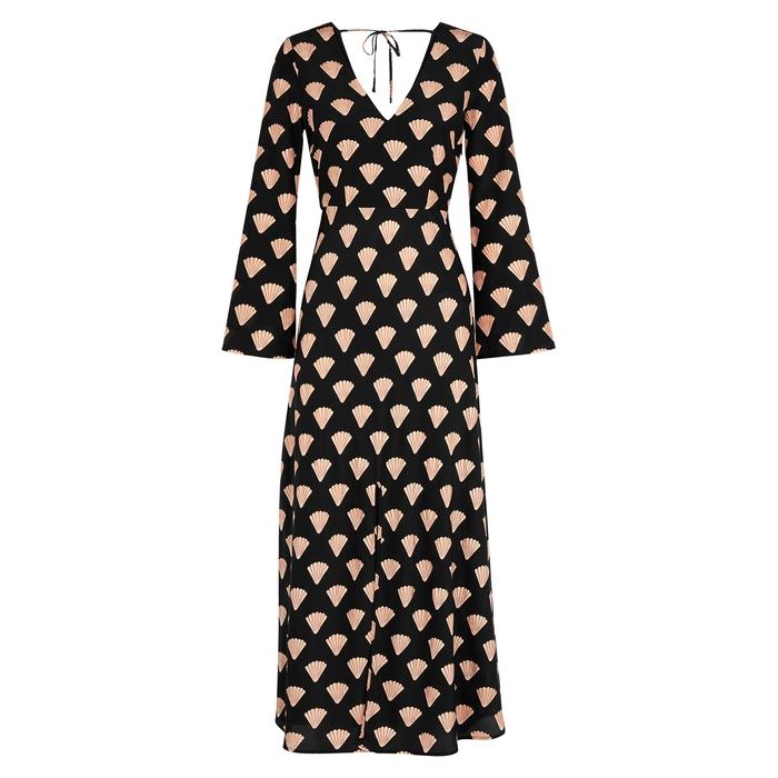 Rixo London Dresses Nora shell-print silk midi dress