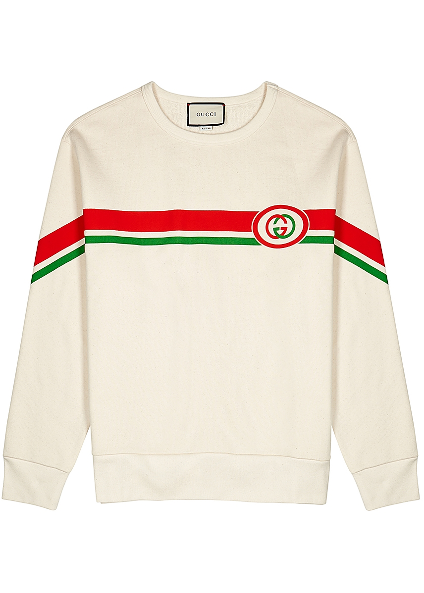 db621a02 Cream printed cotton sweatshirt Cream printed cotton sweatshirt. New  Season. Gucci