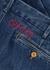 Blue slim-leg denim jeans - Gucci