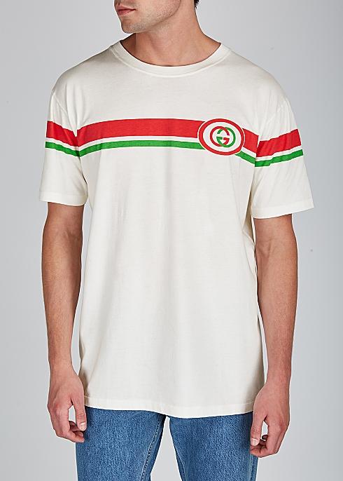 1ce08f146 Gucci Off-white printed cotton T-shirt - Harvey Nichols