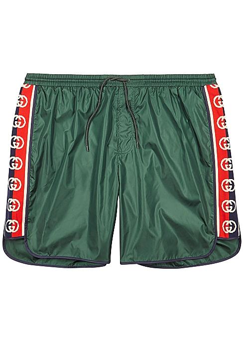 d1ad298bc6 Gucci GG green shell swim shorts - Harvey Nichols