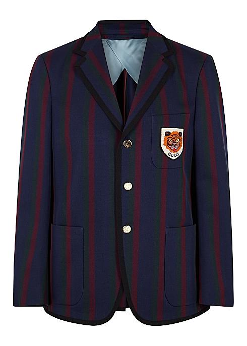 ca64bac41 Gucci Striped cotton twill blazer - Harvey Nichols