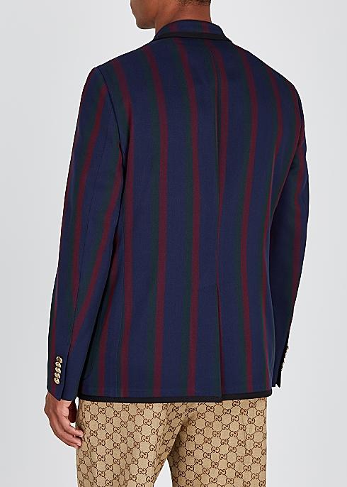36a8f016a Gucci Striped cotton twill blazer - Harvey Nichols