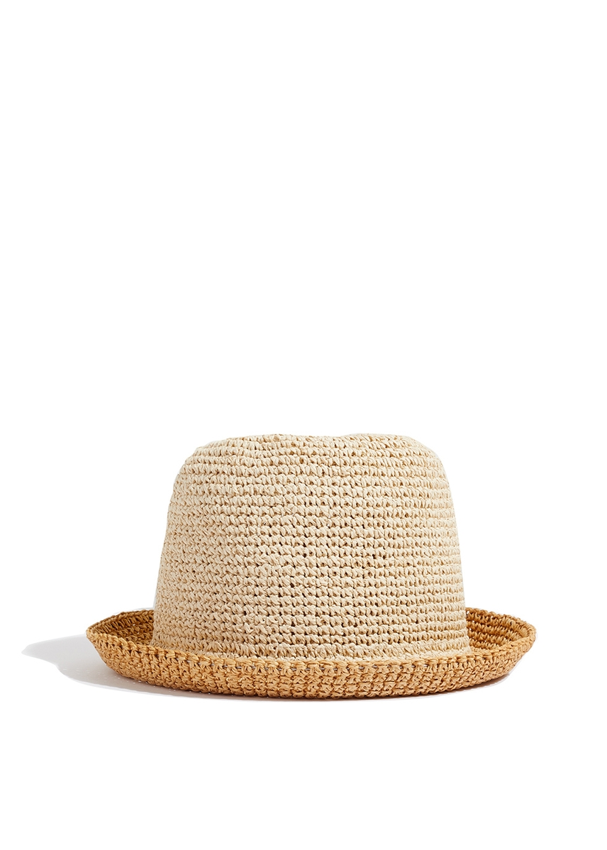 2c000323195c4 Ombre straw bucket hat ...