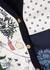 Navy panelled cotton-blend cardigan - Tory Burch