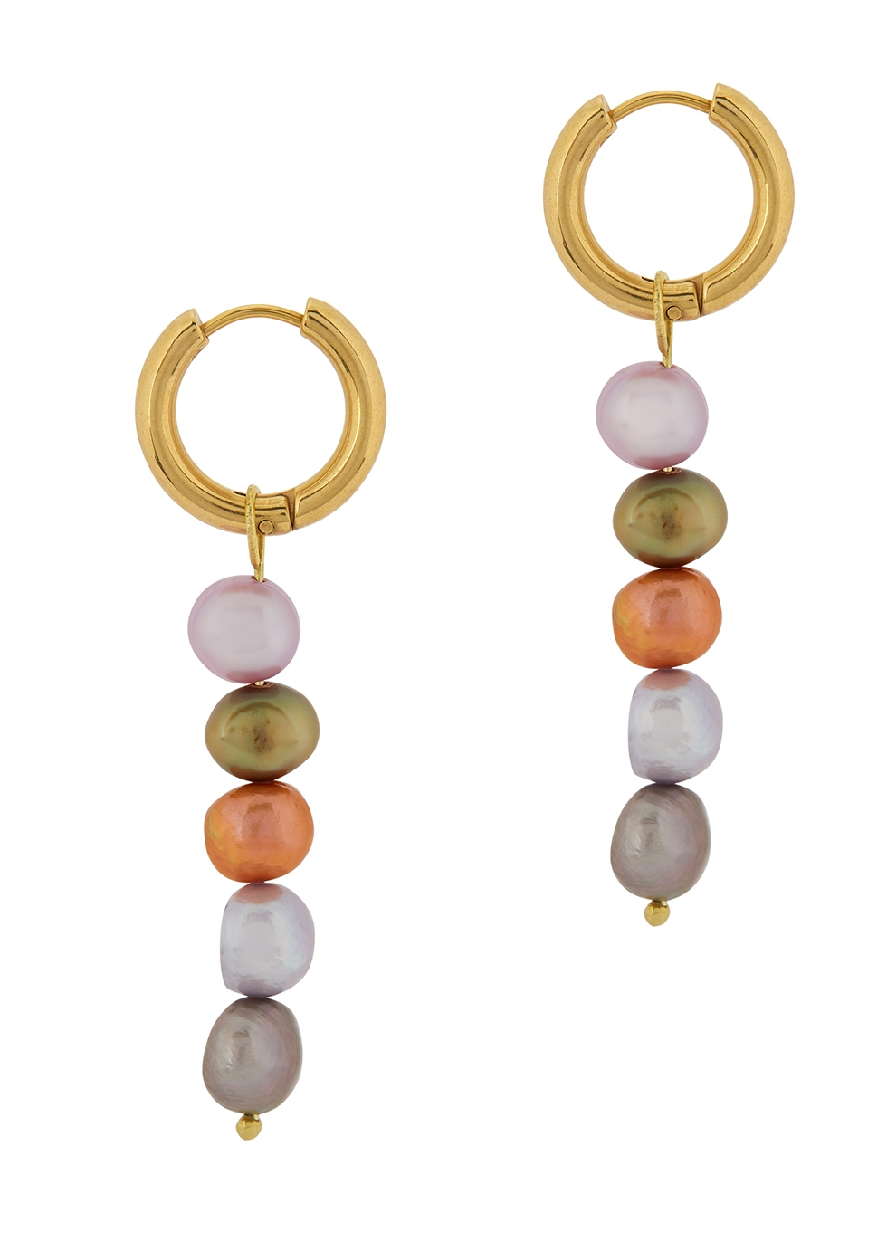 SANDRALEXANDRA | Sandralexandra Mia Gold-Plated Hoop Earrings | Goxip