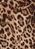 Leopard-print stretch-cotton trousers - Dolce & Gabbana