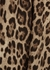 Leopard-print wool mini skirt - Dolce & Gabbana