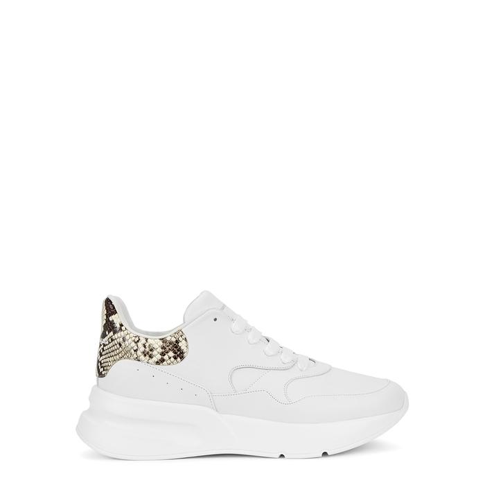 Alexander Mcqueen Oversized Runner White Leather Sneakers