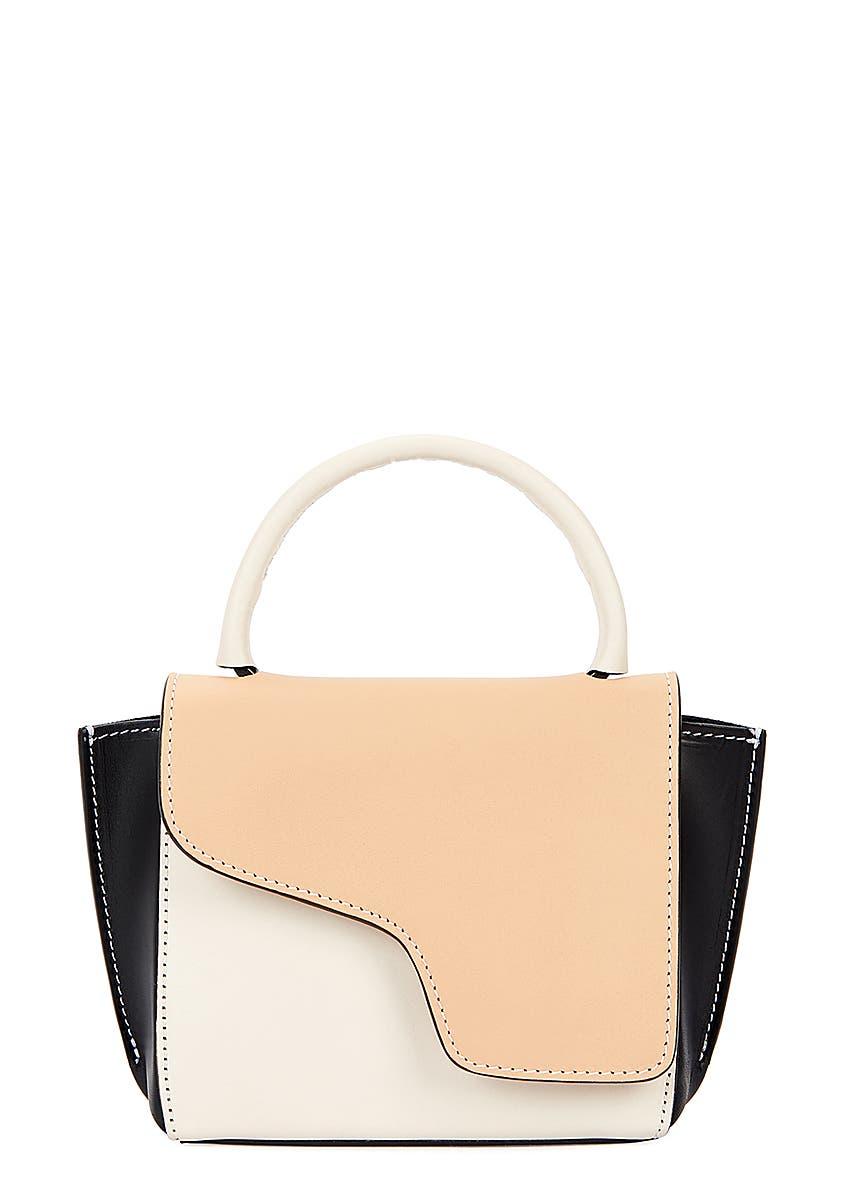 08fa11fa9b7a5 ATP Atelier. Montalcino panelled leather cross-body bag