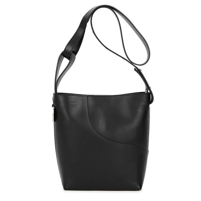 Atp Atelier Shoulder Piombino black leather shoulder bag