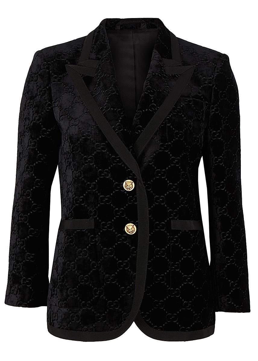 68e7606085ae GG-embossed velvet blazer ...
