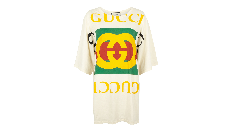d1af3cb96 Gucci Off-white logo-print cotton T-shirt - Harvey Nichols