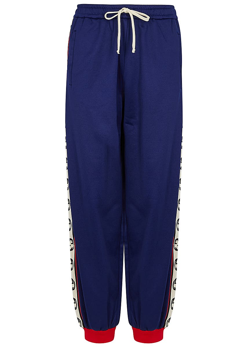 25f2e10ced Blue stretch-jersey sweatpants ...