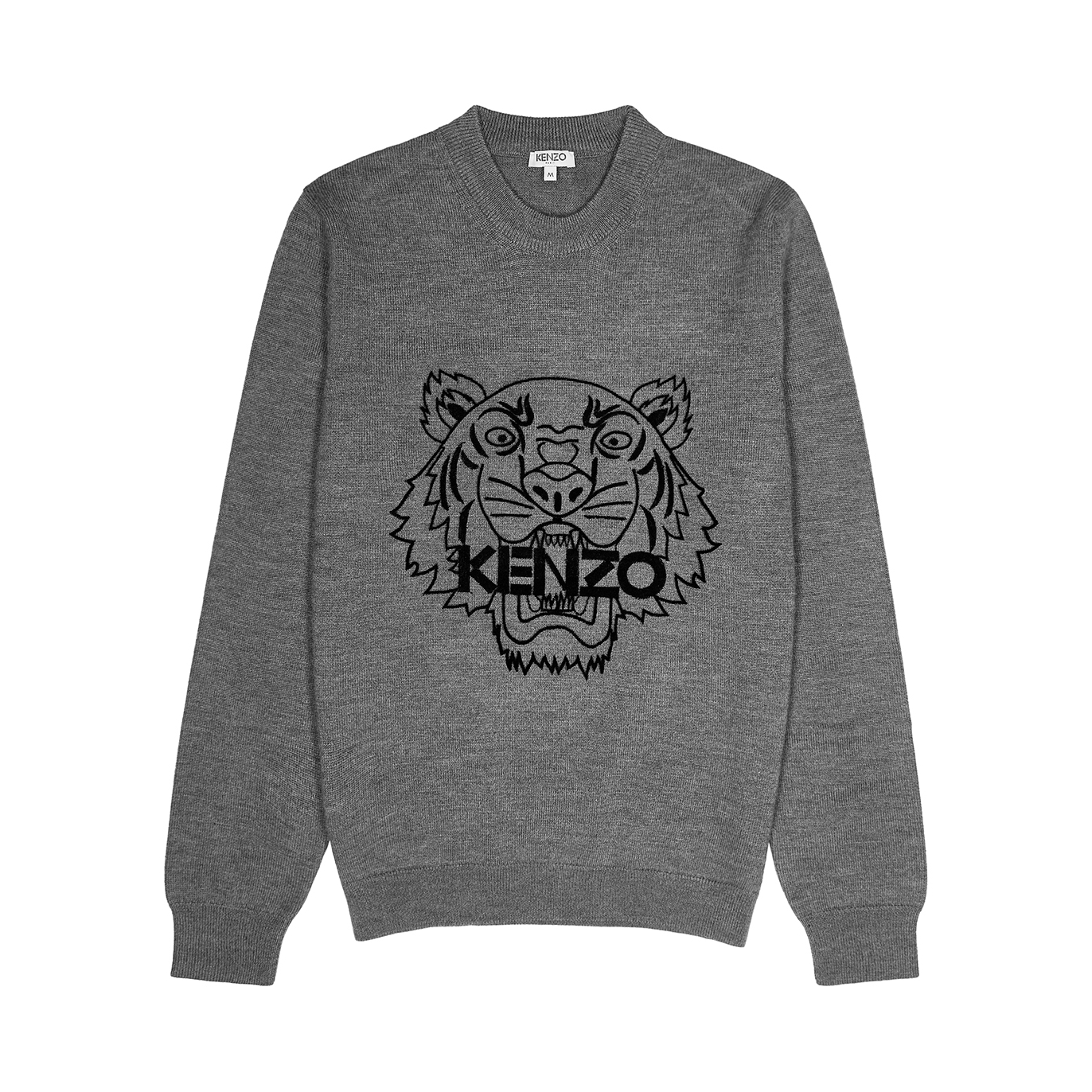 74f784cf77 Kenzo Grey tiger wool jumper - Harvey Nichols
