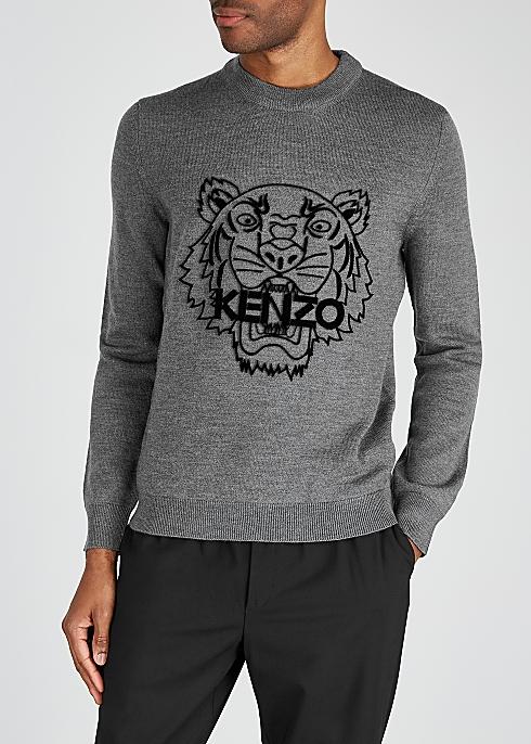 0cf92fb5b4 Grey tiger wool jumper
