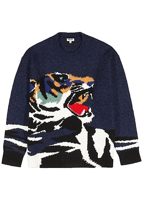 09efd4cae Kenzo Tiger-intarsia jumper - Harvey Nichols