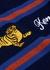 Navy striped wool-blend jumper - Kenzo
