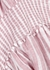 Angelina pink linen-blend dress - Rails