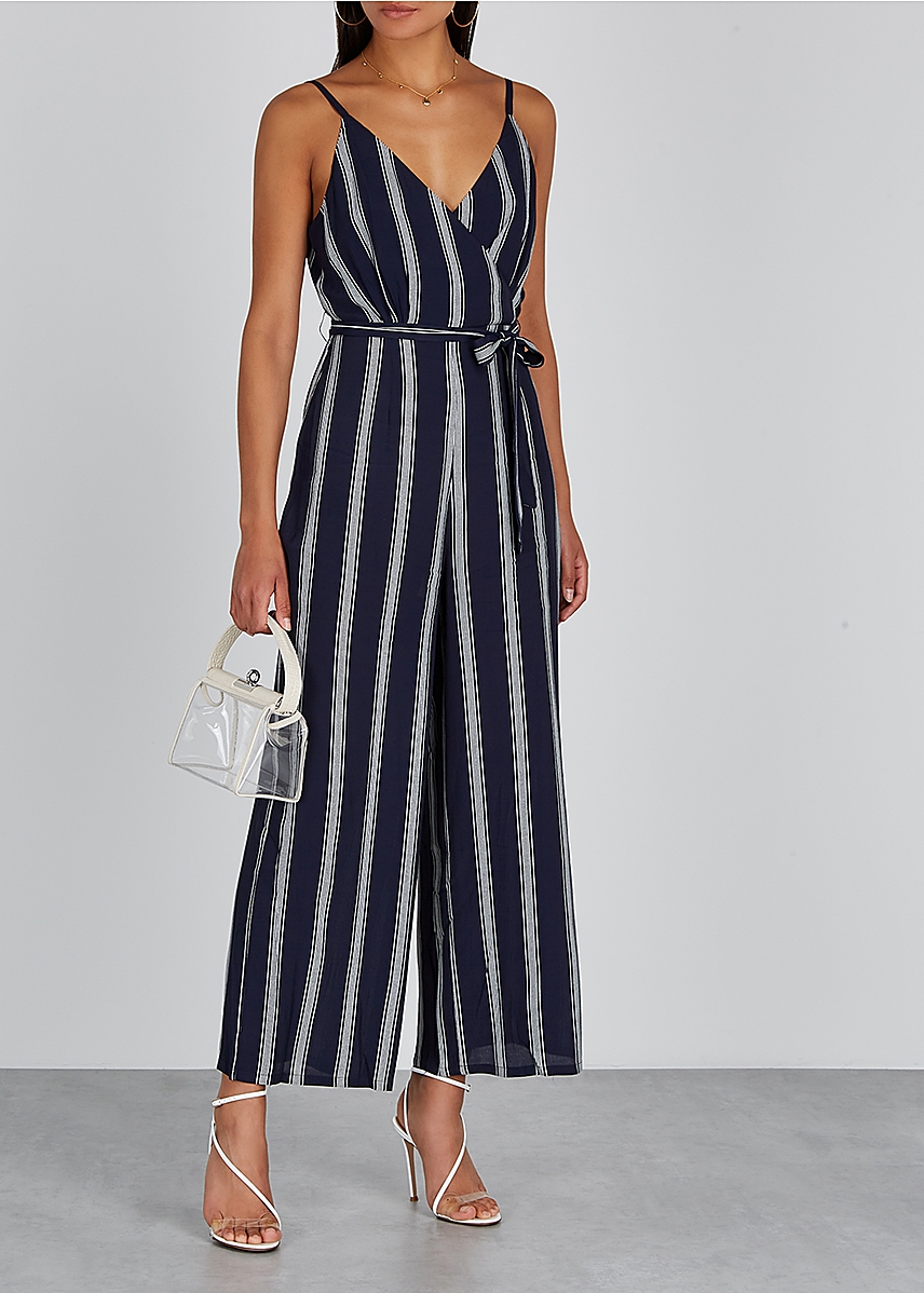bd8d53ce68b1 Serena navy striped jumpsuit Serena navy striped jumpsuit