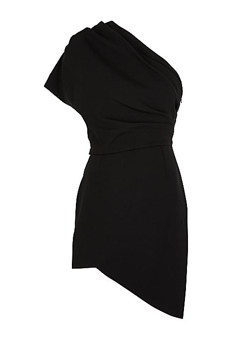 f87b36ee93d Saint Laurent Black asymmetric mini dress - Harvey Nichols