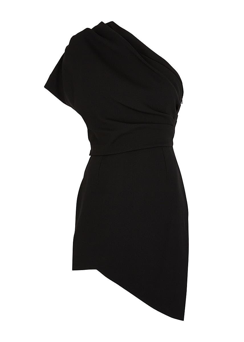 b0f4f94e5 Black asymmetric mini dress Black asymmetric mini dress. New Season. Saint  Laurent