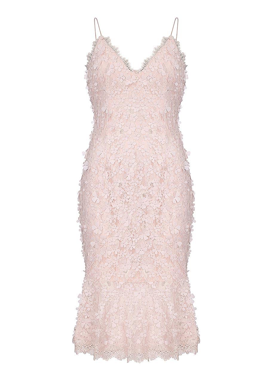 5b51363a52 Embroidered lace sheath dress ...