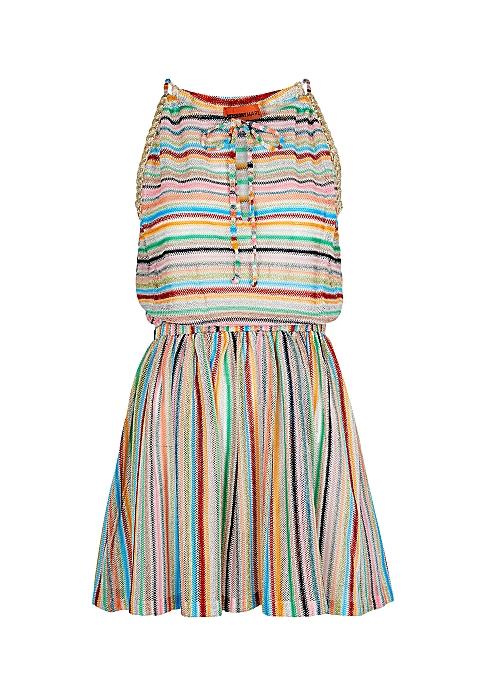 dd26a4959d5e31 Missoni Mare Striped metallic-knit kaftan - Harvey Nichols