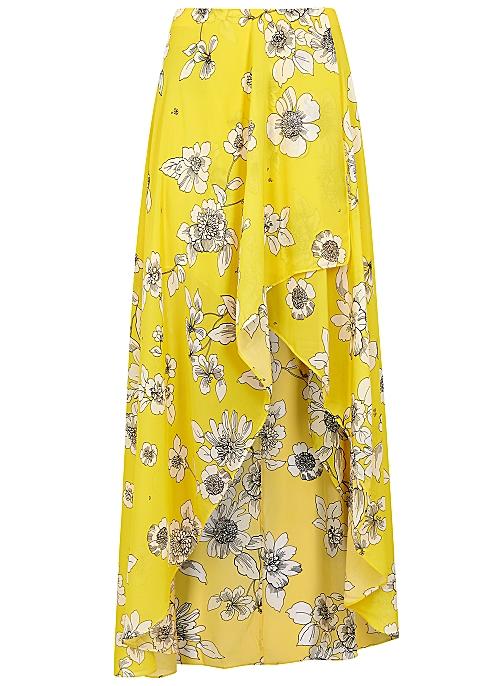 116d633950a052 Alice + Olivia Kirstie floral-print chiffon skirt - Harvey Nichols
