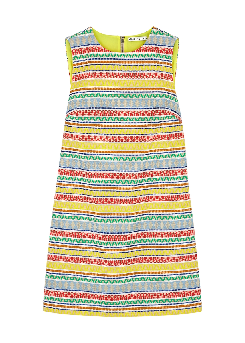 b63c72fb5cf Coley geometric jacquard mini dress Coley geometric jacquard mini dress.  New Season. Alice + Olivia