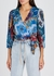 Bray tie-dye silk wrap top - Alice + Olivia