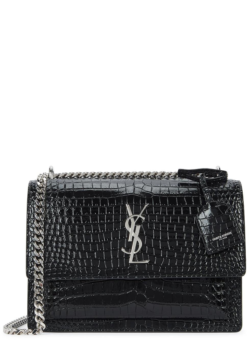 ba1b17af4a63 Saint Laurent Sunset black leather shoulder bag - Harvey Nichols