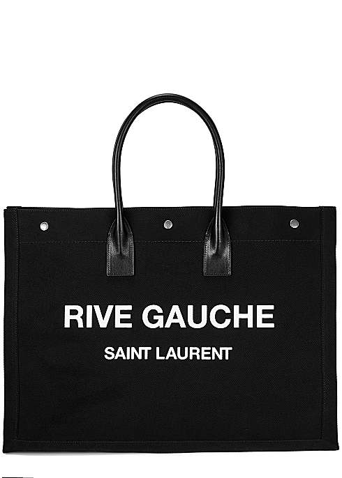1aa93337c03 Saint Laurent Rive Gauche black canvas tote - Harvey Nichols