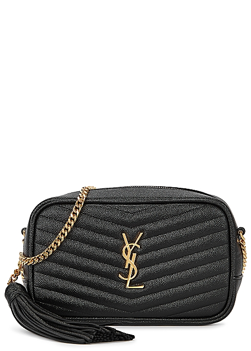 65d342bca08 Saint Laurent Lou mini black leather cross-body bag - Harvey Nichols