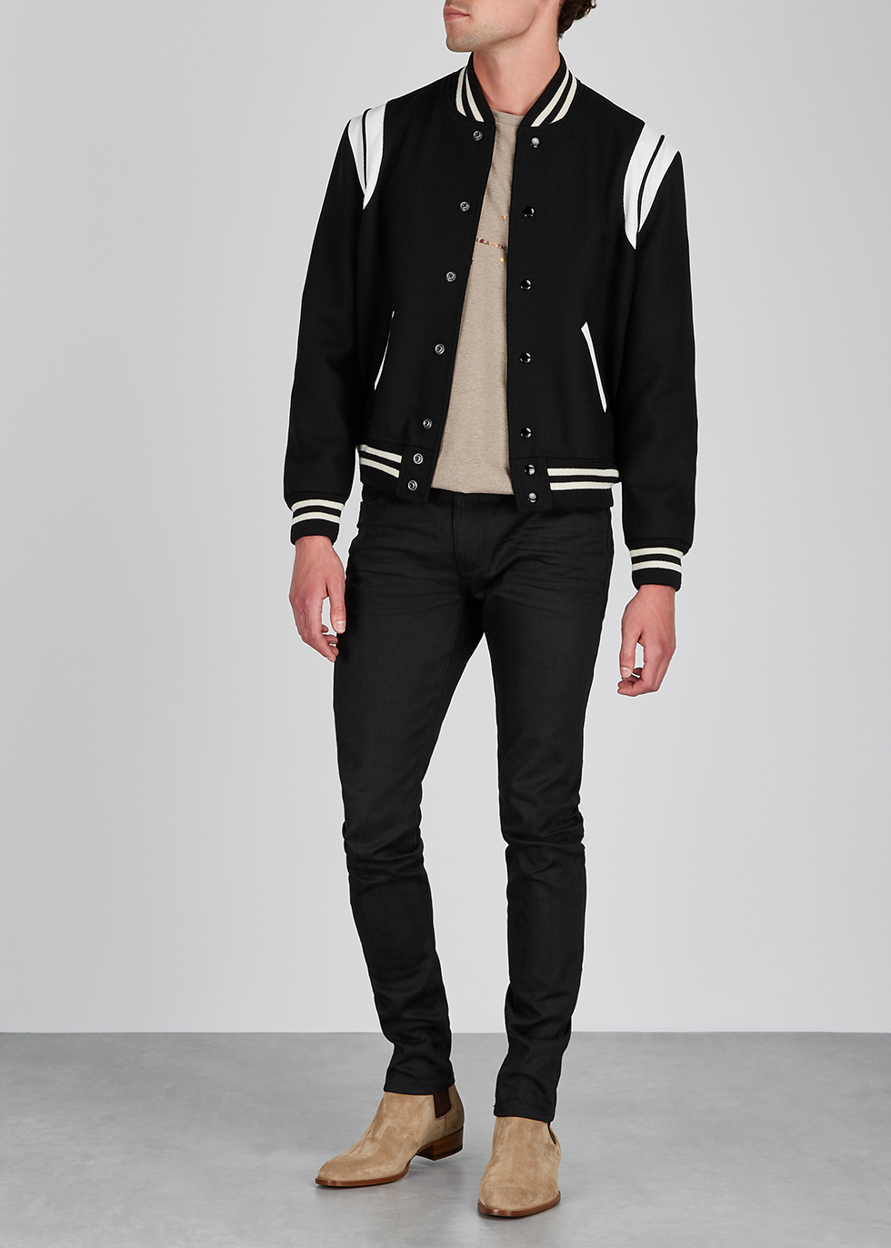 3b968ef70 Saint Laurent Teddy wool-blend bomber jacket - Harvey Nichols
