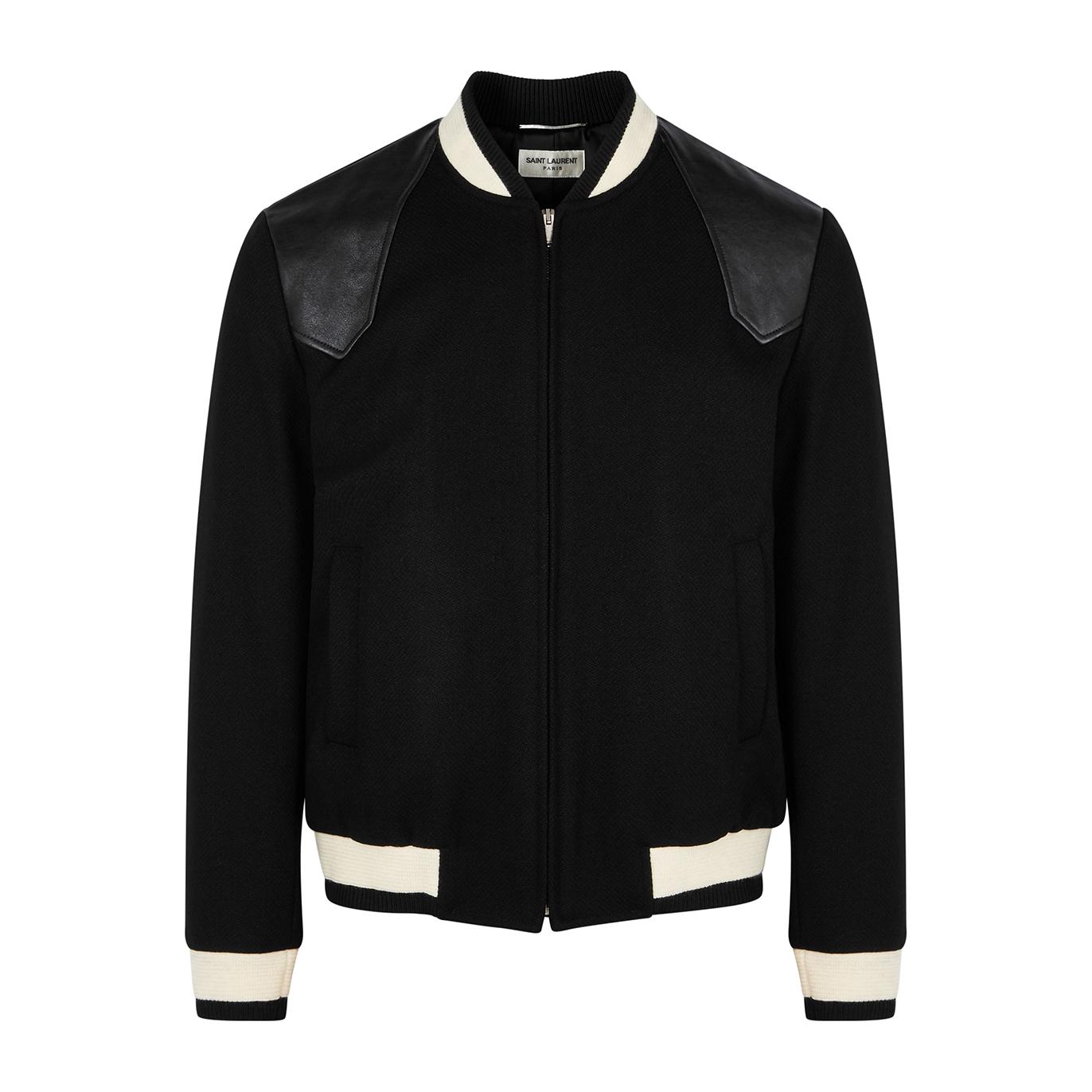 e9b0a202b Teddy black wool-blend bomber jacket