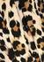 Ecru leopard-print dress - Boutique Moschino